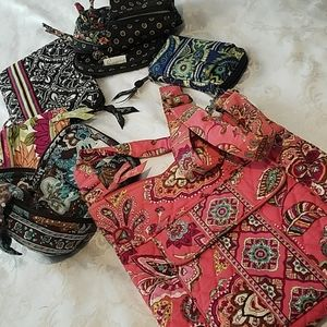 Lot of Vera Bradley Bags/ Cases/ Wallets- 6